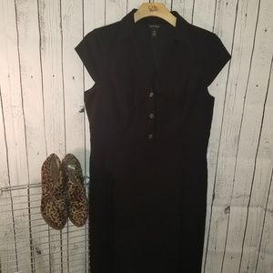 White House Black Market Black Dress Sz 16